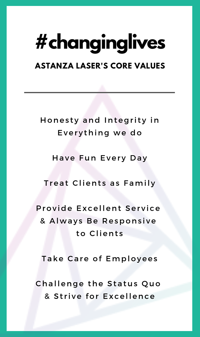 Astanza Laser's Core Values