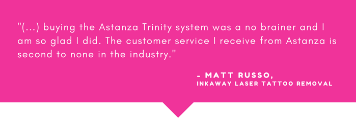 Featured Astanza Client - InkAway Laser Tattoo Removal