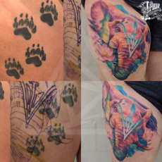 Laser tattoo removal improving new artwork
