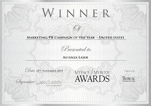 MyFaceMyBody Awards Astanza Marketing PR Campaign of the Year