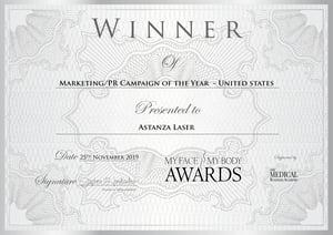 MyFaceMyBody Awards Astanza Marketing PR Campaign of the Year