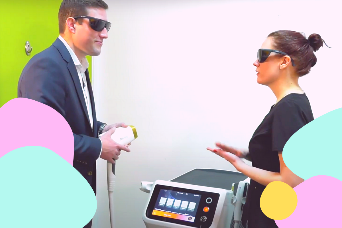 Registered Nurse tries MeDioStar Diode Hair Removal Laser for the First Time, Treating Legs and Underarms
