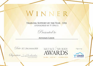 Training Support of the Year Astanza Laser MyFaceMyBody GVAS
